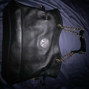 Tory Burch leather slouchy tote